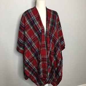 Woolrich Womens Cozy Wrap Red Plaid